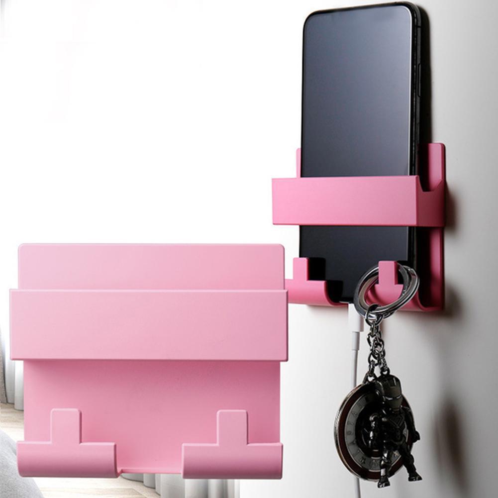Paste Style Rack Mobile Phone Charging Bracket Cradle Holder Cell Charging Keyring For IPhone Storage Hook Wall Phone Hange V4T6