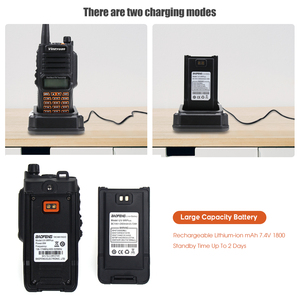 Image 3 - Newest Baofeng UV 9R Plus Walkie Talkie Waterproof 8W UHF VHF Dual Band 136 174/400 520MHz Ham CB Radio FM Transceiver Scanner