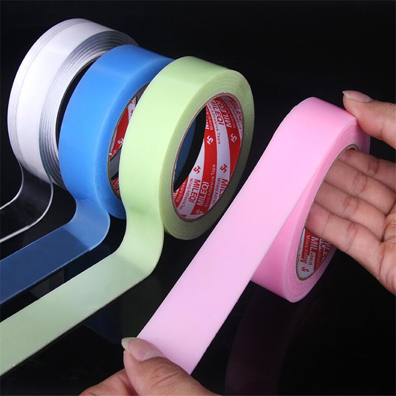 Multifunctional reusable transparent double-sided tape Traceless Washable Adhesive Tapes roll magic nano Tie Glue Home Hardware