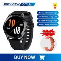 Blackview-Reloj deportivo inteligente para hombre y mujer, banda inteligente resistente al agua hasta 5m, con control de ritmo cardíaco, monitor de sueño, batería ultralarga, para teléfono móvil iOS y Android, modelo X1