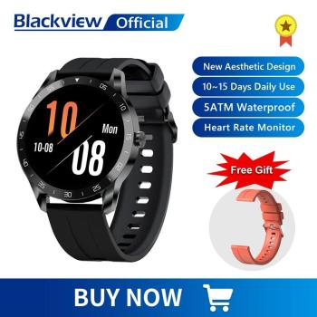 Blackview X1 SmartWatch 5ATM Waterproof Heart Rate Men Women Sports Clock Sleep Monitor Ultra-Long Battrey for IOS Android Phone