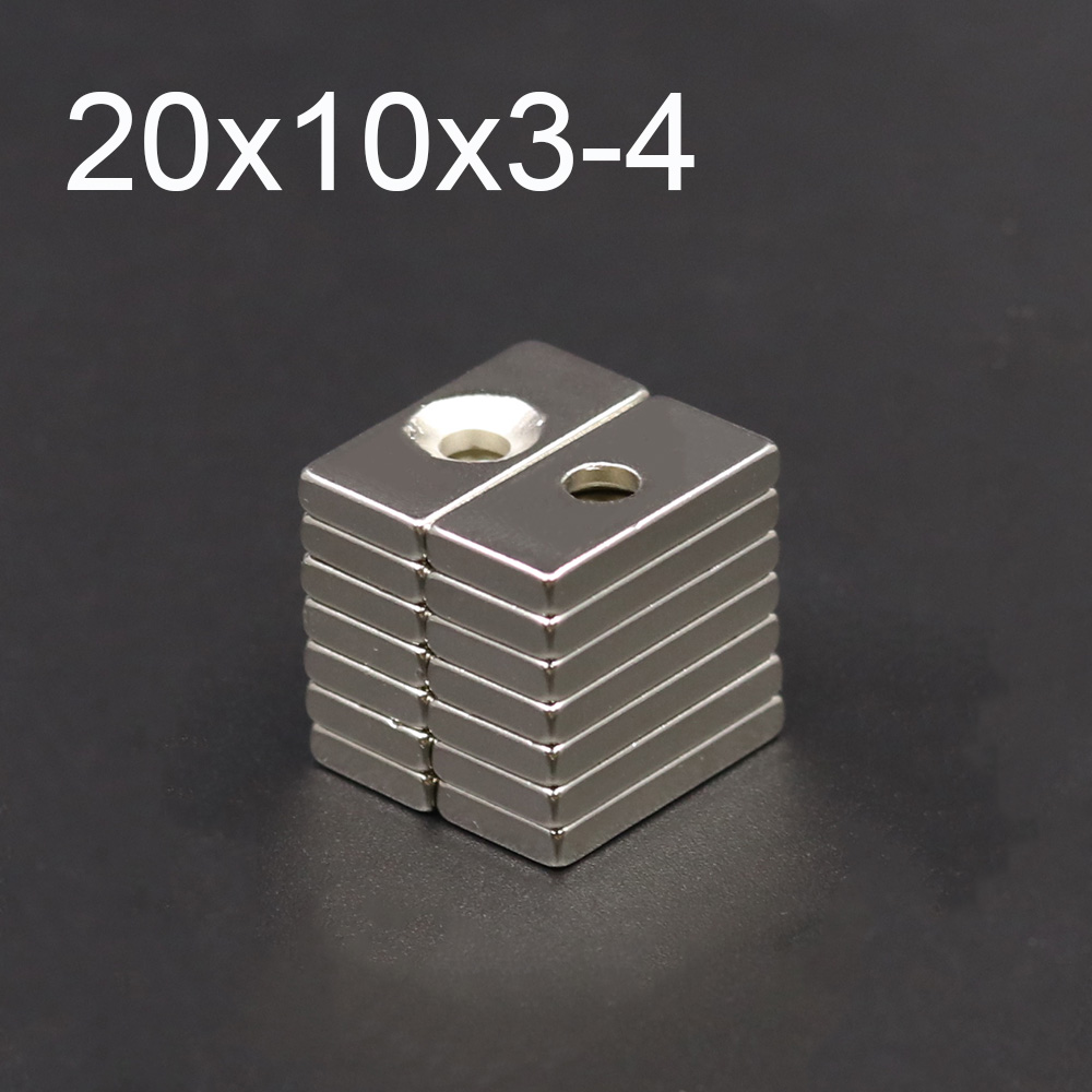 10/20/50Pcs Neodymium Magnet 20mm x 10mm x3 mm Hole 4mm N35 NdFeB Round Super Powerful Strong Permanent Magnetic imanes Disc(China)
