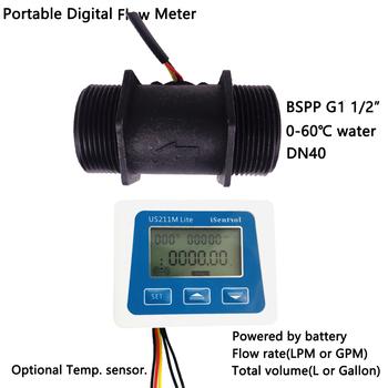 US211M Lite USN-HS121TA 5-200L min cyfrowy miernik przepływu czytnik przepływu kompatybilny ze wszystkimi naszymi efekt halla czujnik przepływu wody Saie tanie i dobre opinie Ultisolar CN (pochodzenie) Hydraulika US211M Lite HS121TA Mężczyzna BSPP Gwint 1-1 2