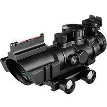 4x32 Acog Mirino 20 millimetri A Coda di Rondine Reflex Ottica Tactical Scope Sight Caccia Della Pistola Del Fucile di Airsoft Sniper Lente di Ingrandimento di Aria pistola
