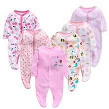 6pieces/Lot Baby Rompers Newborn Baby Gi