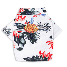 Забавная шифоновая Одежда для собак костюм Гавайская собака кошка ананас узор Прочный Повседневный привлекательный маленький средний размер Дышащая печать