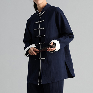 Image 5 - Autumn Winter Men Woman Tai Chi Exercise Clothing Suit Tai Chi Team Martial Arts Competition Suit Chinese Traditional Clothing