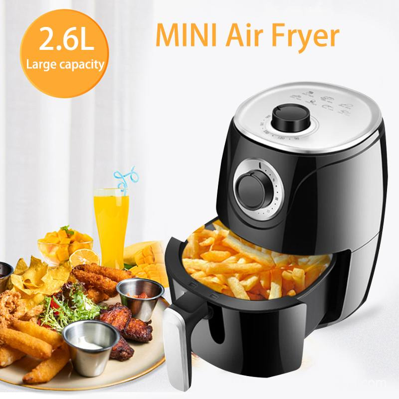 1500W Electric Air Fryer For Healthy Oil Free Cooking 3.7Qt w// Dishwasher Safe