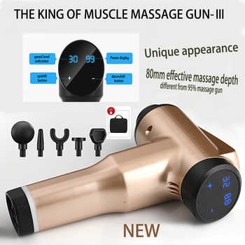 32 speed levels Massage Gun Rechargeable Muscle Stimulator Deep Tissue Professional Massager Body Relaxation Pain Relief - Category 🛒 All Category