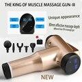 Pistola de massagem recarregável, 32 níveis de velocidade, estimulador muscular, tecido profundo, massageador profissional, alívio de dor, relaxamento corporal