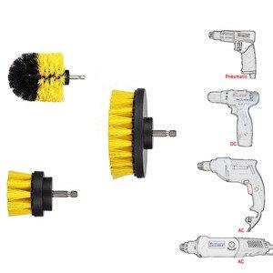 Image 5 - Juego de accesorios para taladro de neumáticos de coche, limpiador de cepillos de nailon, limpieza multiusos para lechada de cocina automática