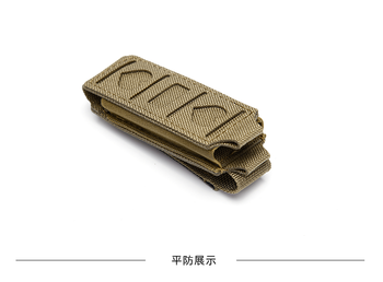 Military 9MM Tactical Molle Single Pistol Magazine Pouch Waist Belt Bag Flashlight Holster Airsoft Mag Pouches EDC Tool Holder 4