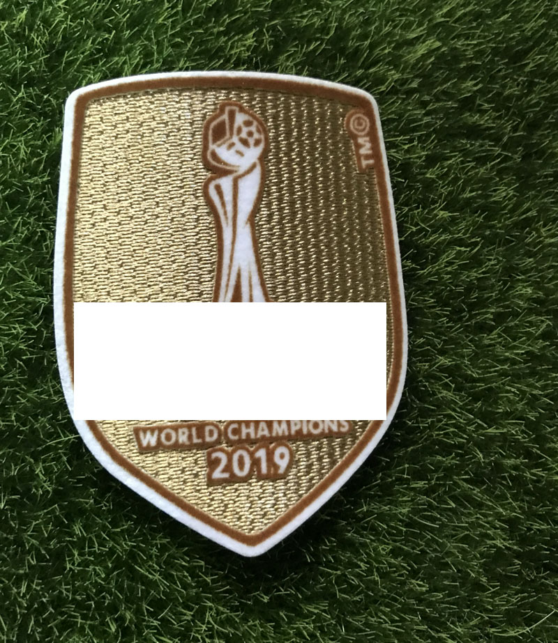 Gold France World Cup 2018 Champions Football Iron On Embroidered Badge Patch