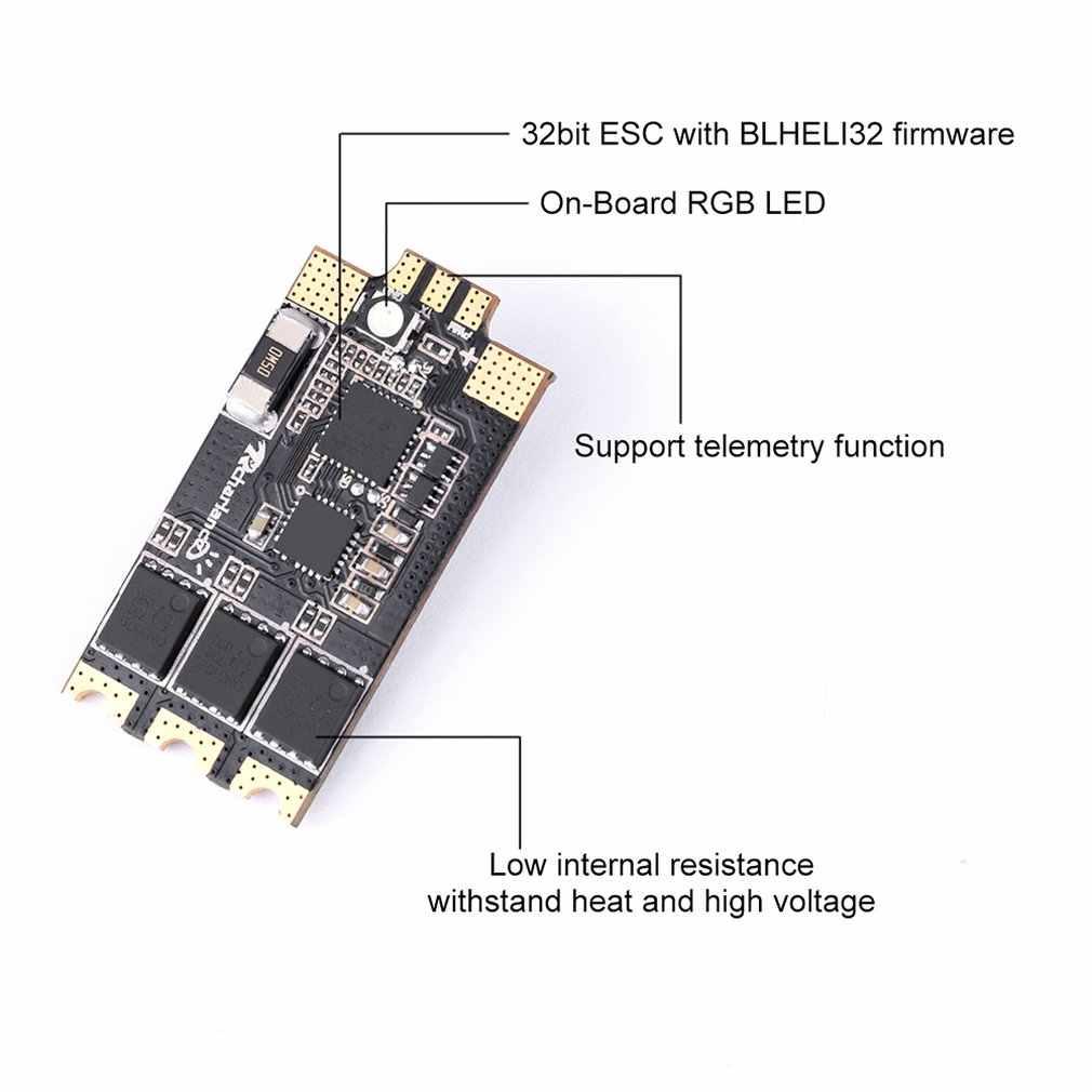Razor32 V2 35A Blheli_32 3-6 S Dshot1200 ESC W/LED RGB & Sensor Arus Dua Arah untuk RC FPV Racing Drone Quadcopter
