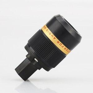 Image 3 - Viborg X Hifi audio Reinem kupfer 24K Gold überzogene EU power kabel Verlängerung stecker stecker adapter 1 paar