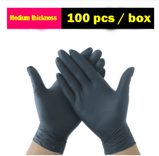100pcs Size M (Non Latex Nitrile) Disposable Powder-Free Vinyl Medical Exam Gloves Glove