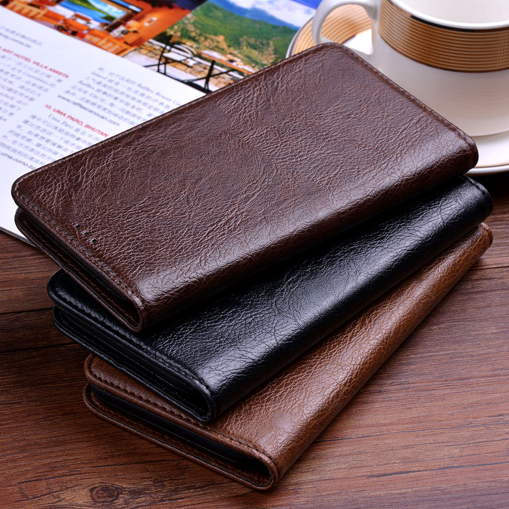Leather case for Huawei Y6 Y9 Y7 Y3 2019 Y5 II Prime Pro 2018 2017 2016 Business design No Magnet,for Y9 Prime 2019 phone case