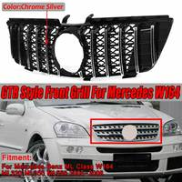 New W164 GTR Style GT Grille Grill Car Front Bumper Grill Grille For Mercedes For Benz ML Class W164 ML320 ML350 ML550 2005 2008