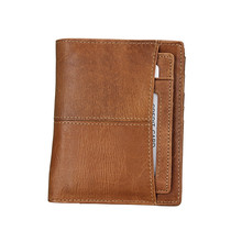 RFID Blocking Men Wallets Vintage Genuine Leather Wallet Fashion Male Coin Purse Cowhide Short Wallet with Removable Card Holder rfid blocking credit card wallet with drivers license holder coin purse short designer card protector wallets 2017 travel wallet