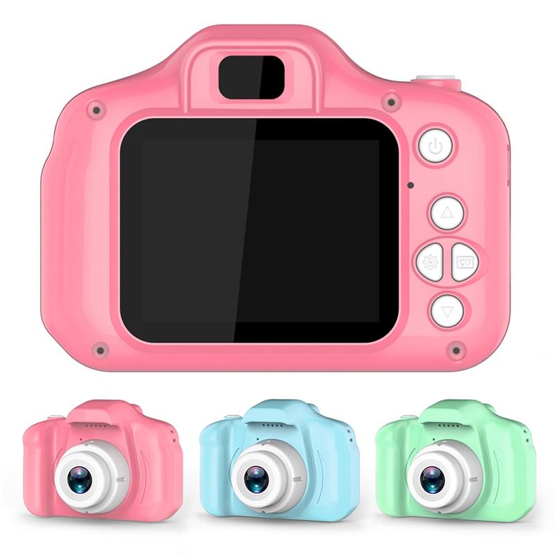 Детские Цифровой Камера 2 дюймов HD Экран мультфильм Камера s видео регистратор видеокамера для детей подарок на день рождения для мальчиков ...