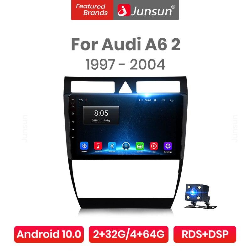 Junsun Android 10.0 Radio samochodowe multimedialny odtwarzacz wideo AI głos Auto Stereo dla Audi A6 C5 1997 - 2004 S6 RS6 Pro 2 din dvd