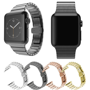 Stainless Steel strap for Apple Watch band 44 mm 40mm iWatch band 42mm/38mm Butterfly buckle Metal Bracelet Apple watch 5 4 3 21 hoco 42mm watchband steel stainless metal strap classic buckle adapter watch bands for apple watch
