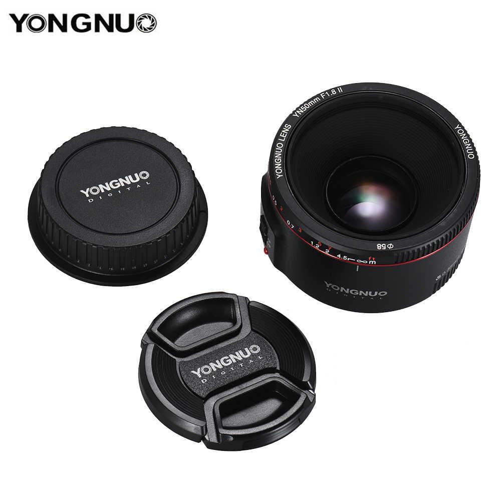 YONGNUO YN50mm F1.8 II lente de enfoque automático de gran apertura para Canon Bokeh efecto lente de cámara para Canon EOS 70D 5D2 5D3 600D DSLR