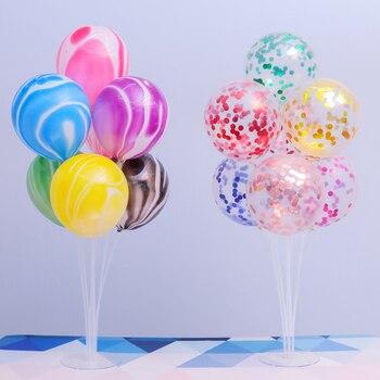 1Set 7 Tubes Balloon Stand Balloon Holder Column Confetti Balloons Baby Shower Birthday Party Wedding Xmas Decoration Supplies 2