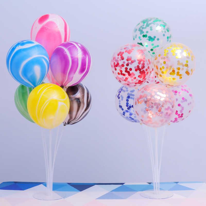 1Set 7 Rohre Ballon Stehen Ballon Halter Spalte Konfetti Luftballons Baby Dusche Geburtstag Party Hochzeit Weihnachten Dekoration Liefert
