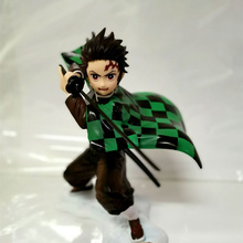 цена на Anime Demon Slayer Kimetsu no Yaiba Kamado Tanjirou PVC Action Figure Collectible Model doll toy 19cm