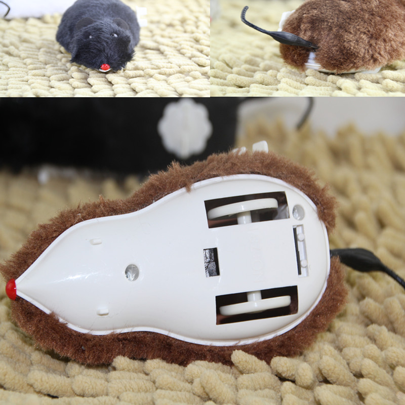 On The Tramp New Product Booth Goods Spring Mouse Winding Spring Plush Mouse Tail Goes Faster Long