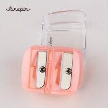 Pink sharpening eyebrow+eye+lip liner pencil Single Hole Min