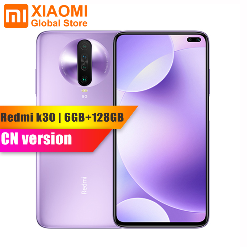 Original Xiaomi Redmi K30 6GB RAM 128GB ROM Smartphone Snapdragon 730G Octa Core 64MP Quad Kamera 4500mAh 27W Schnelle Lade