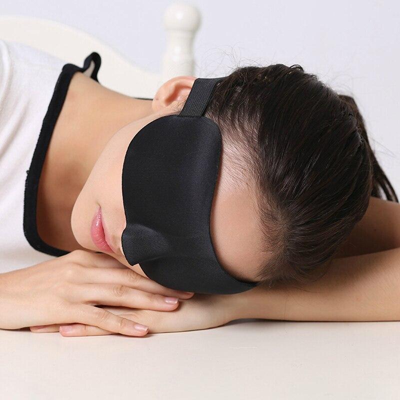 Black 3d Sleep Eye Mask Has Nose Wing Sleep Eye Mask Soft Eye Mask Cover Rest Relaxed Sleep Blindfold