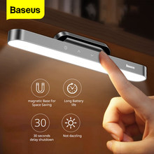 Baseus LED Table Lamp Magnetic Desk Lamp Hanging Wireless Touch Night Light for Study Reading Lamp Stepless Dimming USB Light