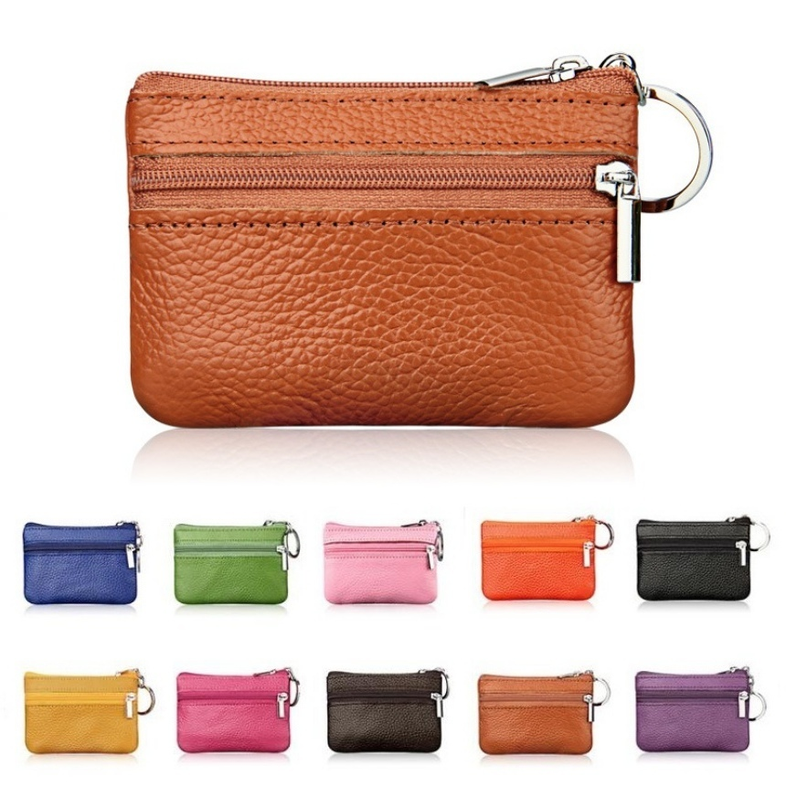PU Leather Coin Purses Women's Small Change Money Bags Pocket Wallets Key Holder Case Mini Functional Pouch Zipper Card Wallet