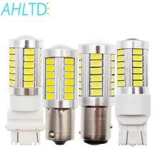 цена на 2PCS 33SMD 5730 1156 BA15s P21W Led White Red Yellow Car Light Turn Brake Light Tail Lamp LED Auto Rear Reverse Bulb R5w