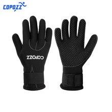 Copozz-guantes de neopreno de 3mm para homem e mujer, manoplas de buceo que mantenen el calor, para surf, pesca submarina,
