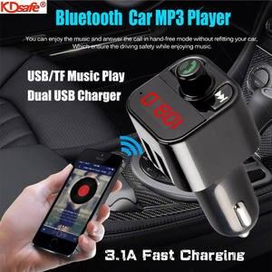 Car-Kit Usb-Charger Aux-Player Digital-Voltmeter Fm-Transmitter Bluetooth Kdsafe Quick
