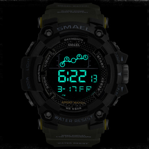 Image 3 - SMAEL – Montre de sport résistante à leau style militaire pour homme, accessoire numérique à LED, doté dune chronomètre, 1802