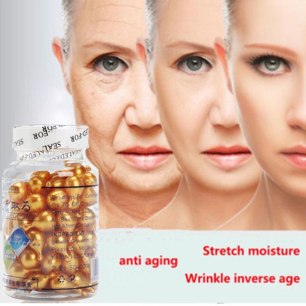 90Pcs/Bottle Vitamin E Capsules Serum Spot Acne Removing Whitening Cream VE Freckle Capsule