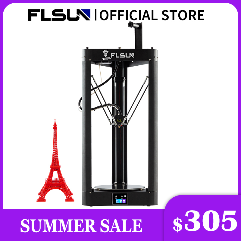 3D-принтер Flsun QQ S PRO Delta Kossel, автоматическое восстановление, предварительная сборка, TFT 32 бита, плата Impressora Drucker