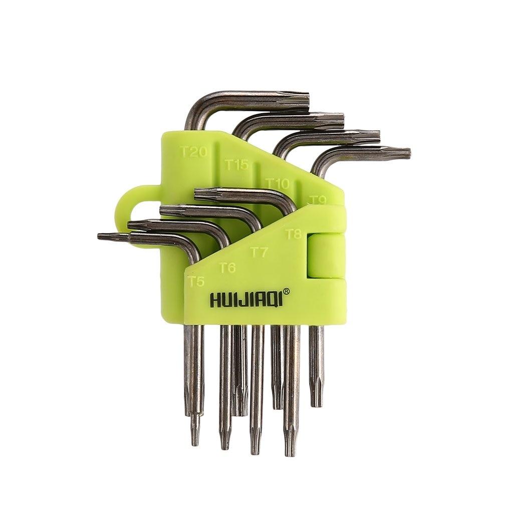 50HRC Durable Wrench Torx Key Set L Shape Tool Screwdriver Hollow Carpenter Tools Auto Repair Hand ToolS ZK126