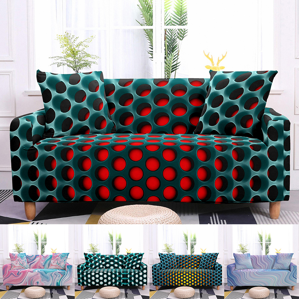 10 Colors 3D Sofa Covers Soft Elastic Couch Slipcovers Sofa Protector Couch Cover 1-4 Seaters 1