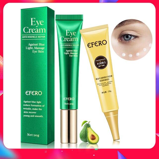 EFERO Anti arrugas crema ojos suero Anti envejecimiento Círculos oscuros hidratante piel seca contra luz azul noche reparación péptido ojo crema