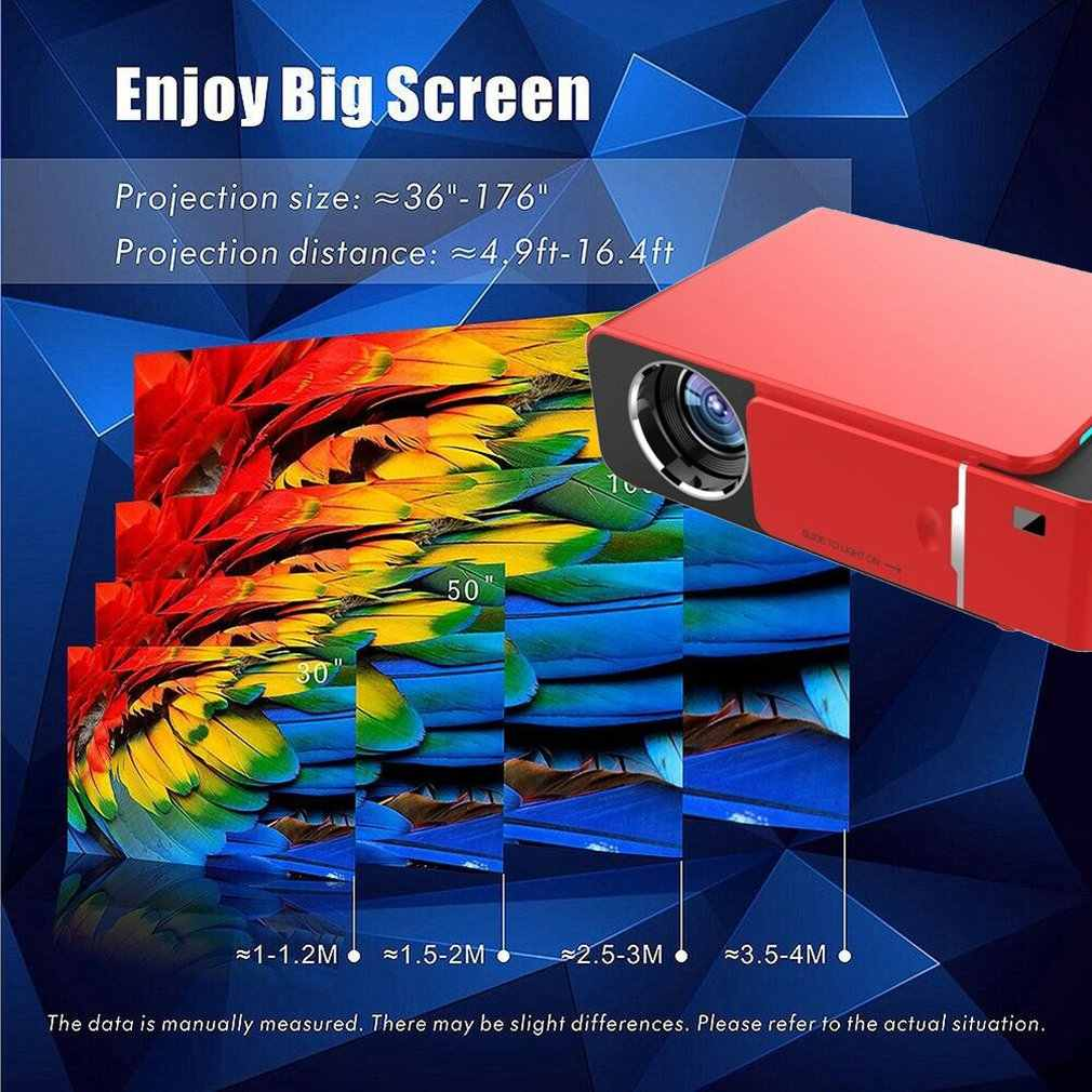 Proyector Led T6, Hd, 1280x720P, portátil, Hdmi, Usb, 1080P, para cine en casa
