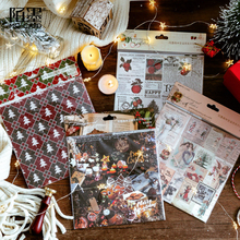 8pcs/lot Cute Forest Christmas Night Series Background paper sticker decoration diy album scrapbooking stationery