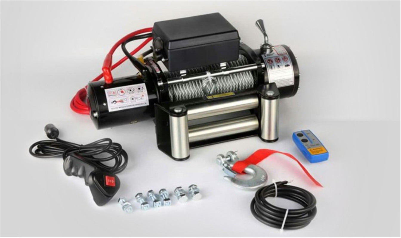 12/24v 4000lb  Electric Winch Remote Control Set Heavy Duty SUV ATV Trailer High Strength Steel Electric Winch