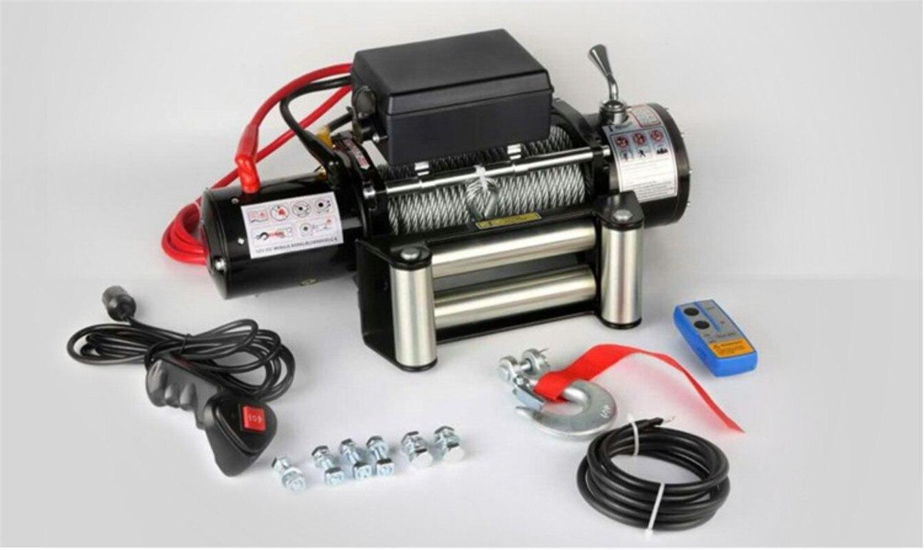 12/24v 4000lb  Electric Winch Remote Control Set Heavy Duty SUV ATV Trailer High Strength Steel Electric Winch