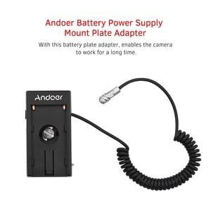 Image 3 - Andoer камера Blackmagic Cinema BMPCC 4K Адаптер блока питания с пружинным кабелем для Sony NP F970 F750 F550 аккумулятор